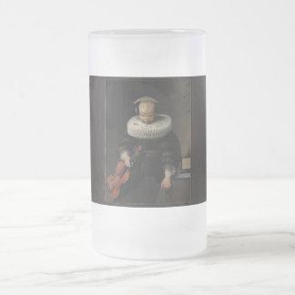 hi-f frosted glass beer mug