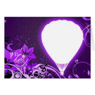 hi-fi hot air balloon greeting card