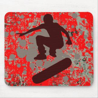 hi-fi skateboarding : bubbles : mouse mat