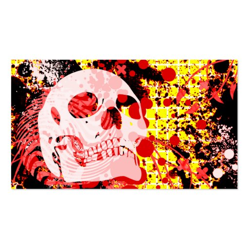 hi-fi skull business card template