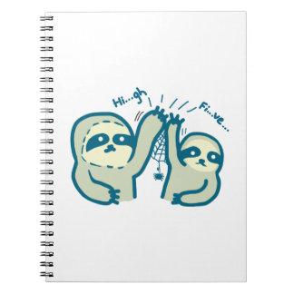Hi-Five Sloths notebook
