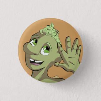 Hi from Bud Mushroom 3 Cm Round Badge