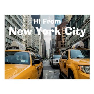 Hi From New York City Postcard