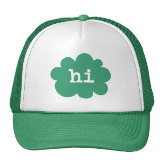 Hi - Green (Hi Hello Greetings) Cap