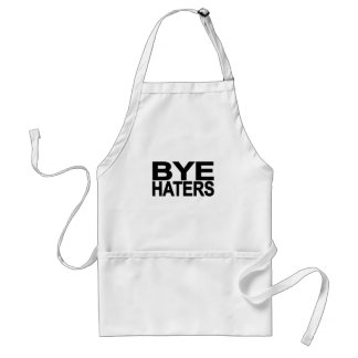 Hi hater Bye hater tee L png Aprons