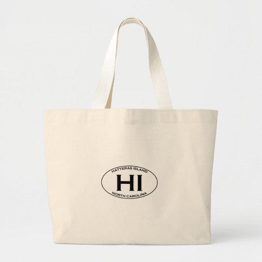 HI - Hatteras Island Oval Logo Large Tote