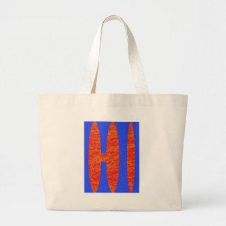 hi, hello or Hawaii initials or word Bags