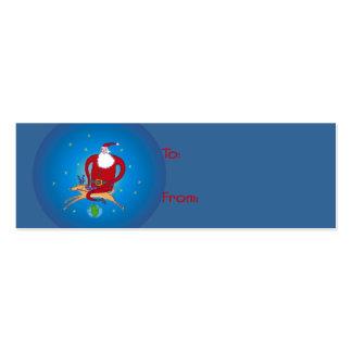 Hi Ho Santa! Gift Tags Business Card Template
