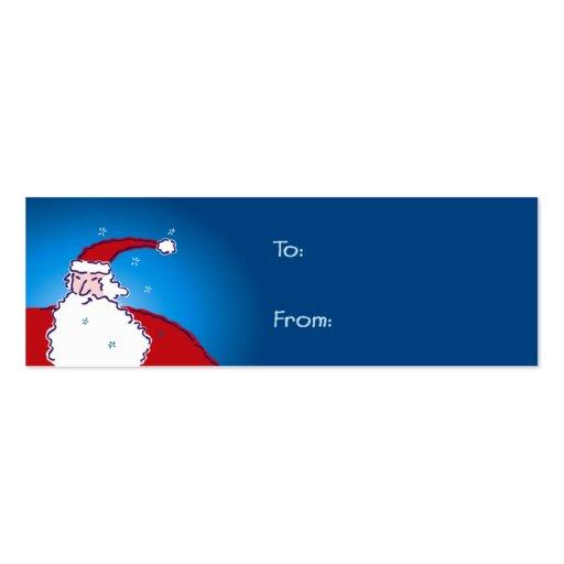Hi Ho Santa! Gift Tags Business Cards