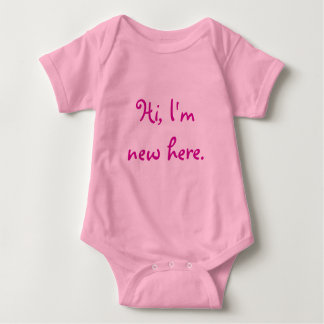 Hi, I'm new here. Baby Bodysuit