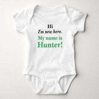 Hi I'm new here! My name is Customizable! Baby Bodysuit