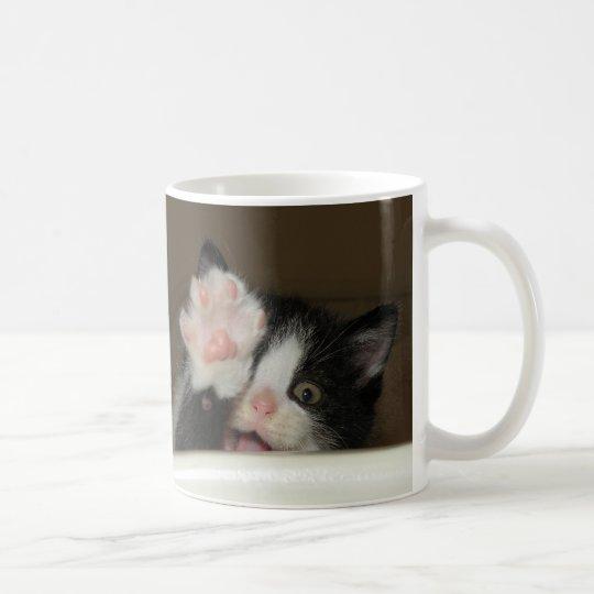 """Hi!"" kitten mug"