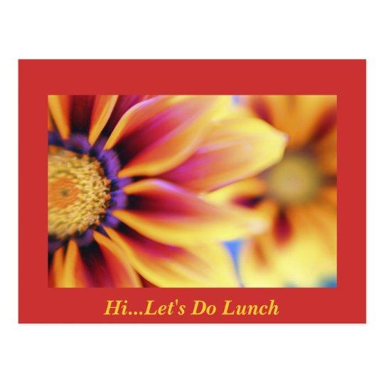 HiLet's Do Lunch Postcard