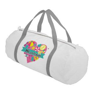 Hi-Lo Travel Gym Bag - Snow White Gym Duffel Bag