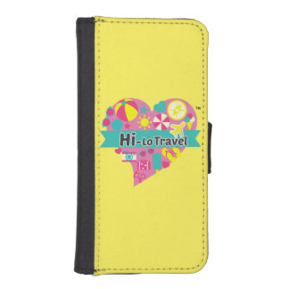 Hi-Lo Travel IPhone Holder - Bright Yellow iPhone SE/5/5s Wallet Case