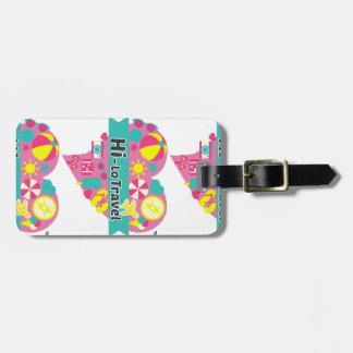 Hi Lo Travel Luggage Tag w/ leather strap