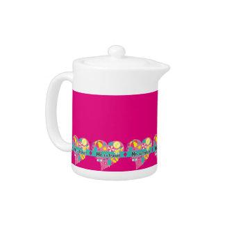 Hi-Lo Travel Teapot - Hot Pink