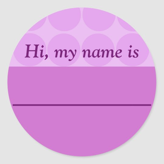 """Hi, my name is ______"" - Lavender Dotted"
