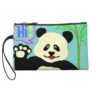 Hi Panda! Wristlet Purse