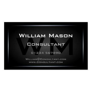 Hi-Res Black Monogram Professional Business Card