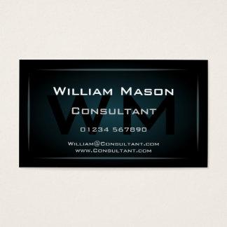 Hi-Res Blue Monogram Professional Business Card