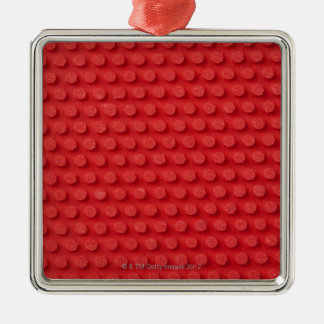 Hi-Res macro image of a studded ping pong Silver-Colored Square Decoration