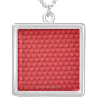 Hi-Res macro image of a studded ping pong Silver Plated Necklace
