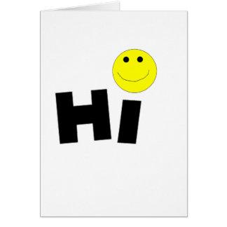 Hi (Smiley Face) Greeting Card