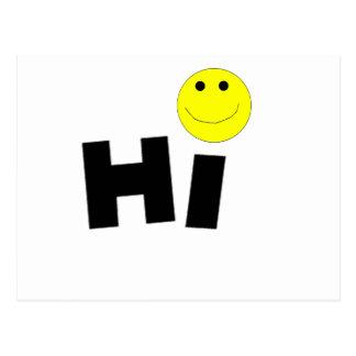 Hi (Smiley Face) Postcard