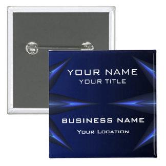 Hi Tec Futuristic Business Name Tag 15 Cm Square Badge