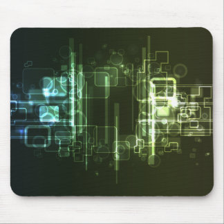 hi-tech abstract mouse pad