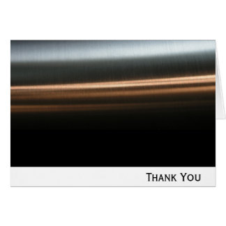Hi Tech Bronze Wave Business Stationery Note Card