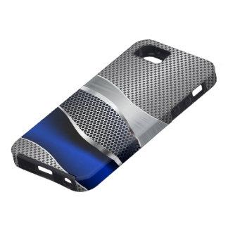 Hi Tech Futuristic Mod Mesh Chrome and Sapphire iPhone 5 Covers