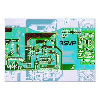 "Hi-tech geek wedding RSVP card 3.5"" X 5"" Invitation Card"