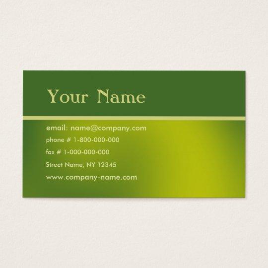 Hi-Tech - Green Business Card