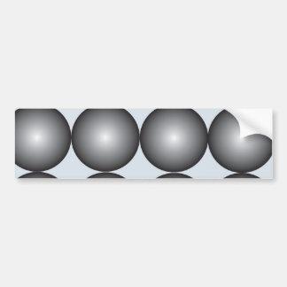 Hi-Tech Silver and Gray Balls Bumper Sticker