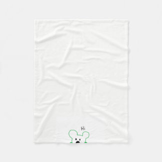 Hi There Bear! Fleece Blanket