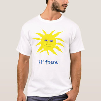 Hi there Cool Yellow Sun Design T-Shirt