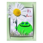 Hi there froggie and daisy postcard
