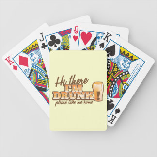 Hi there! I'm DRUNK please take me home The Beer S Bicycle Card Deck