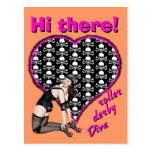 Hi there! roller derby Diva Post Cards