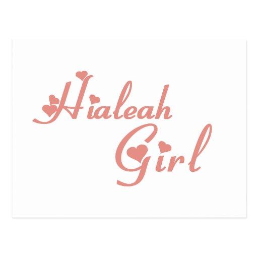 Hialeah Girl tee shirts Post Card