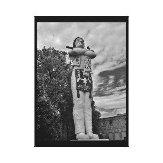 Hiawatha Statue Canvas Print