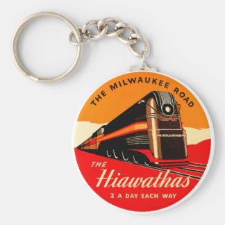 Hiawathas Train Basic Round Button Key Ring