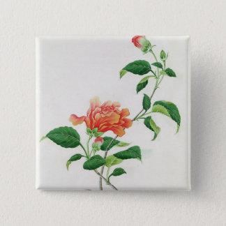 Hibiscus 15 Cm Square Badge