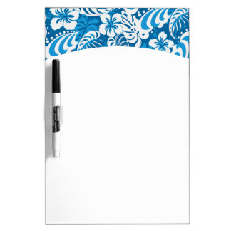 Hibiscus abstract floral dry erase board