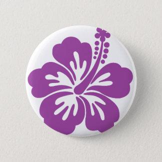 hibiscus aloha flower 6 cm round badge
