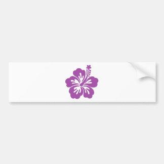 hibiscus aloha flower bumper sticker
