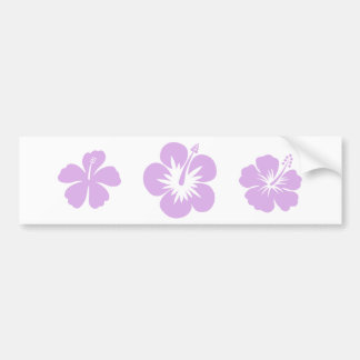 hibiscus aloha flower lavender bumper sticker