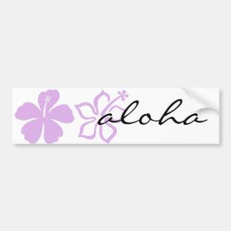 hibiscus aloha flower lavender bumper stickers